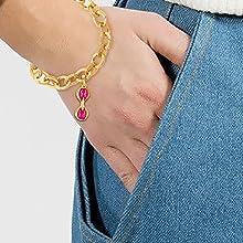 bracelet charm bracelet gold plated bracelet expandable bracelet gold charms gold plated charms