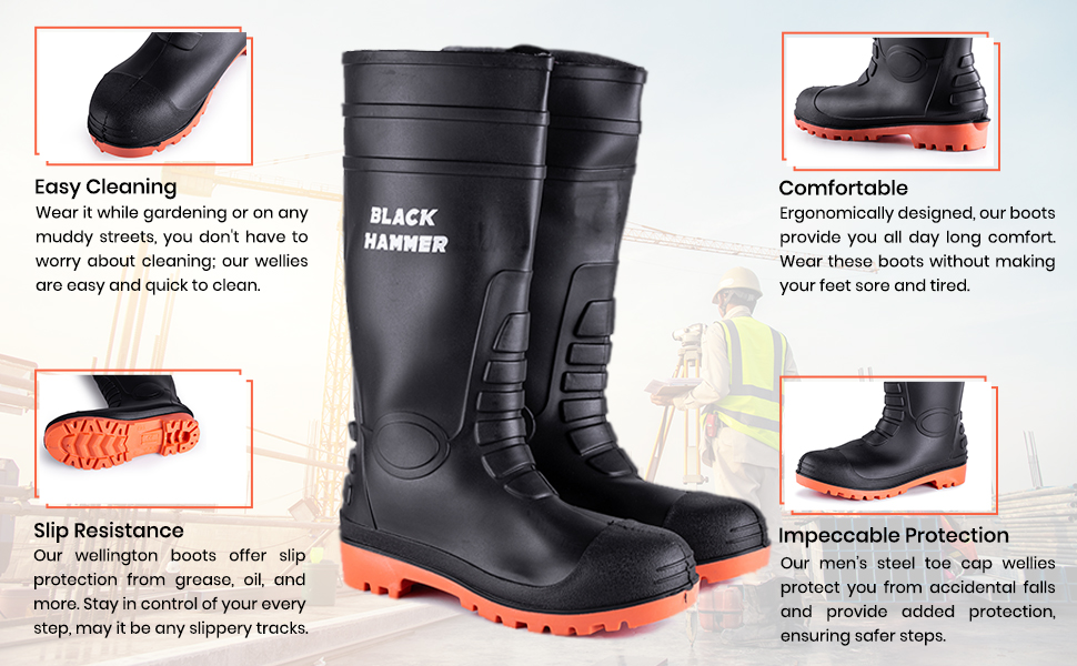 Wellies made for working camping walking on site and are comfortable waterproof