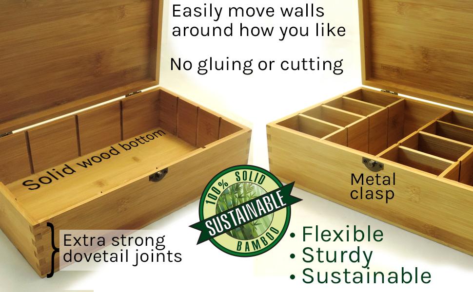 adjustable wood giftbox