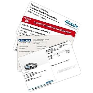 Insurance Holder, Registration Holder, Registration and Insurance Card Holder