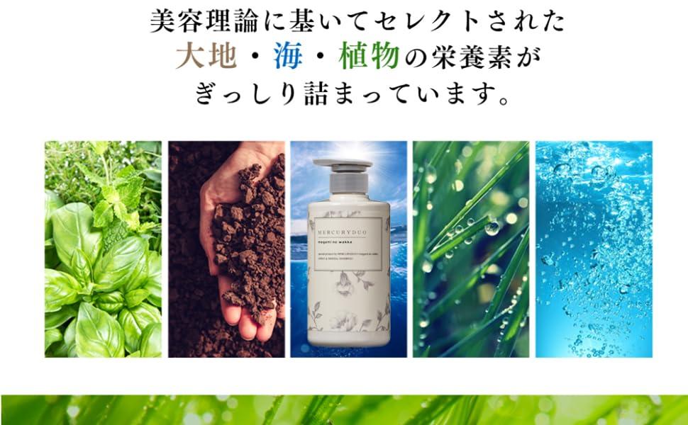 植物、海、大地のアミノ酸とミネラルがぎっしり詰まったアミノ酸系マイルドシャンプー