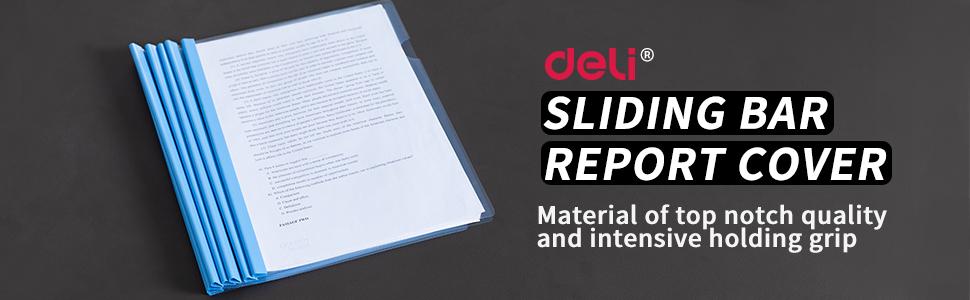 sliding bar report cover