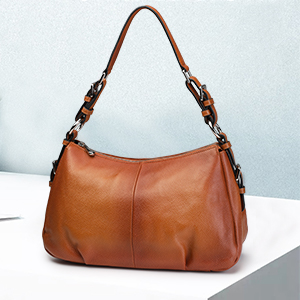 genuine leather top handle bag for women