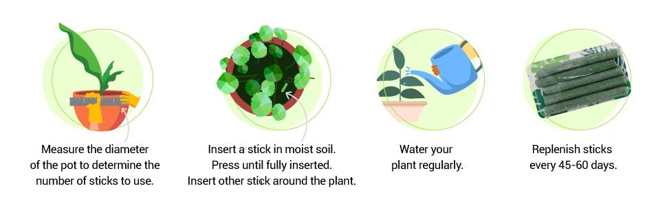 Green stix, Organic fertilizer, natural fertiliser, fertilizer for all houseplants