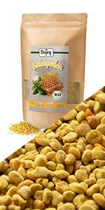 bijenpollen bijenbrood stuifmeel zoet ongezoet suikervrij zonder toegevoegde suikers biologisch