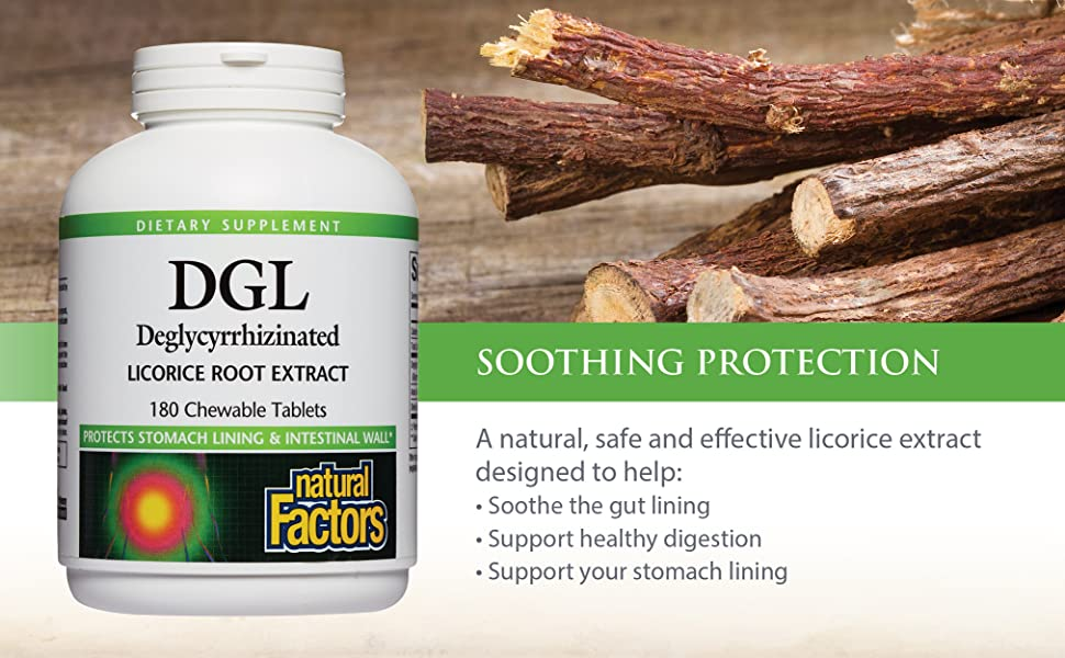 A natural, safe and effective licorice extract designed to help:  Soothe the gut lining