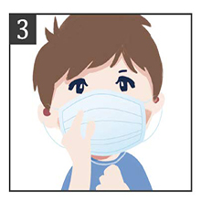 Open the mask up and down, adjust the size and make sure it completely covers the nose and mouth