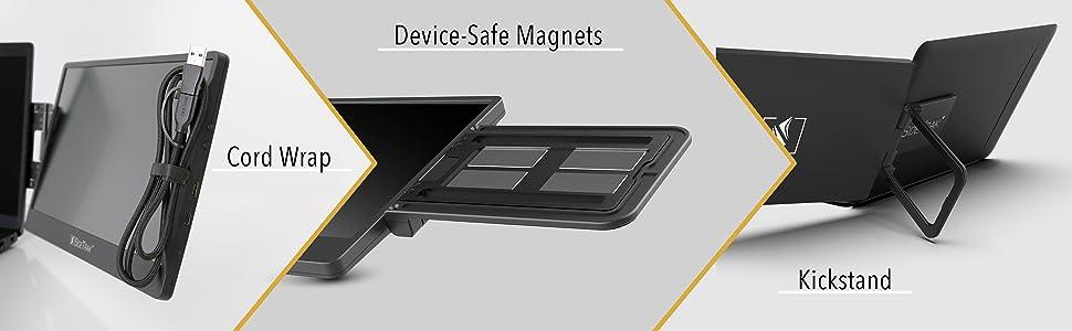 Swivel Sidetrak monitor dual laptop screen productivity work from home usbc 360 rotation auto bright