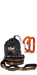 XL Hammock Straps With Carabiners