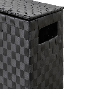 Ideal Addition to Bathroom or Toilets by Arpan Toilet Roll Holder Free Standing Bathroom Multipurpose Storage Unit Polypropylene Woven on Metal Frame Black