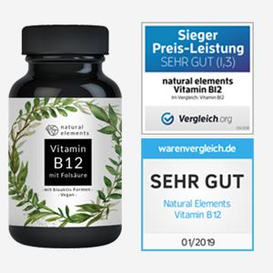 Vitamin B12 - Vergleichssieger 2019* - 180 Tabletten