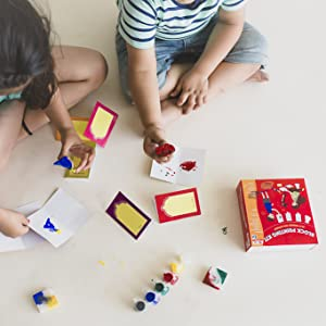 block printing kit, wooden stamps, cocomoco kids, cocomoco