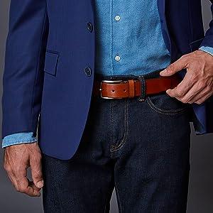 Trafalgar Leather Dress Belts
