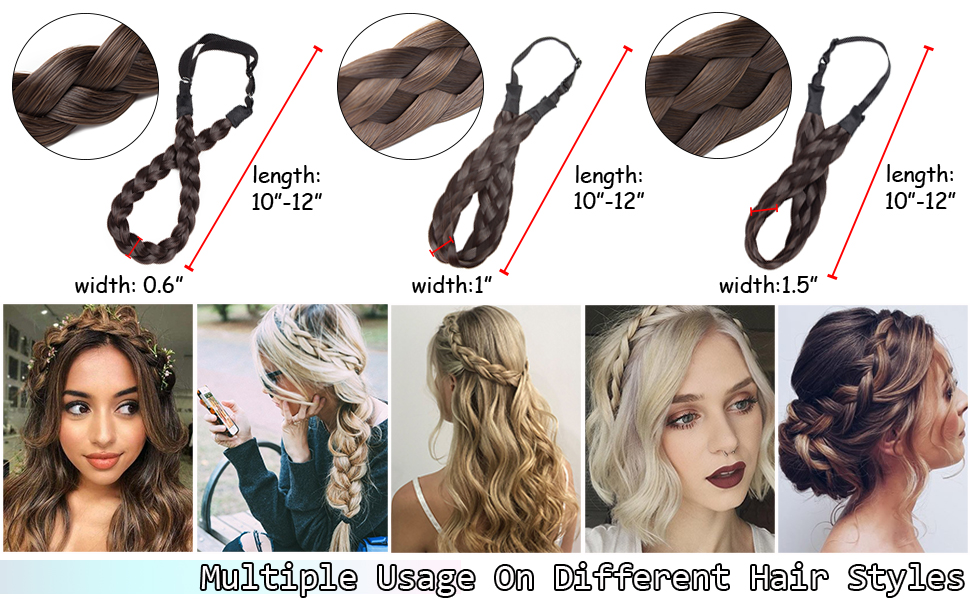 Hairro braided hair band is situable for different occasions