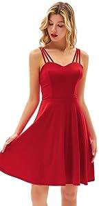 Vestido de mujer elegante sin espalda sin manga