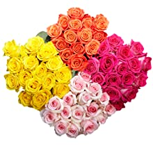fresh flowers, assorted roses