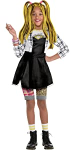 omg surprise halloween costume for girl punk alternative goth cool plaid unique edgy sassy rebel fun