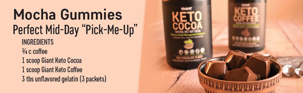 Giant Sports Keto Cocoa Keto Coffee Mocha Gummies