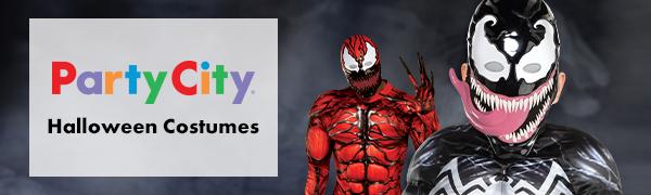 Venom villian hero evil scary action halloween trick or treat costume cosplay dress up black tongue