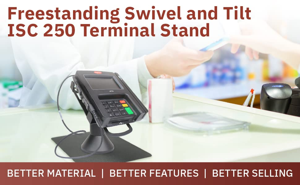 Freestanding Swivel and Tilt ISC 250 Terminal Stand