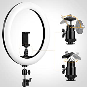 ring light with stand - gimble base