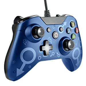 Molyhood Controlador para Xbox One, Mando Xbox One Controlador con Cable para Xbox One, Xbox One S, Xbox One X y PC Windows 7/8/10: Amazon.es: Videojuegos
