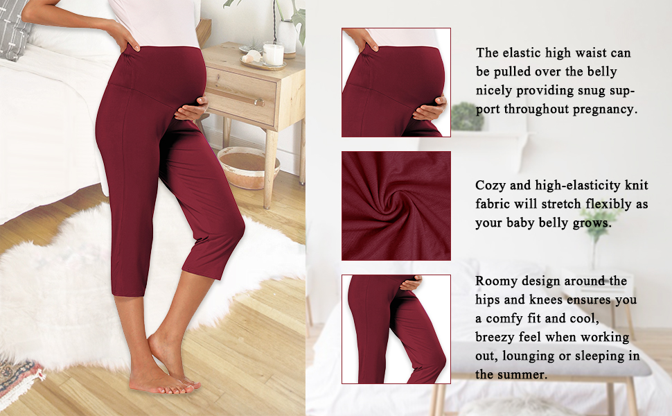 Cozy And High-Elasticity Maternity Lounge Pants