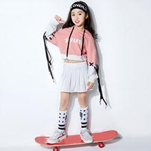 Girl skateboarding short skirt