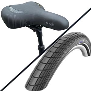 Sattel und Reifen