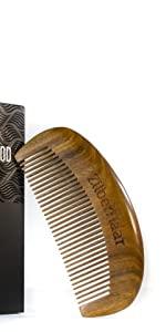 sandalwood beard comb for men