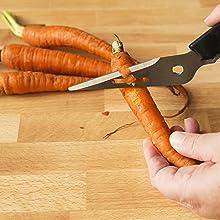 herb peeler kitchen scissors fish t vegetable shrimp tool metal raw prawn soft fruit deveiner