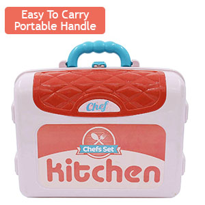 kitchen set with portable suitcase