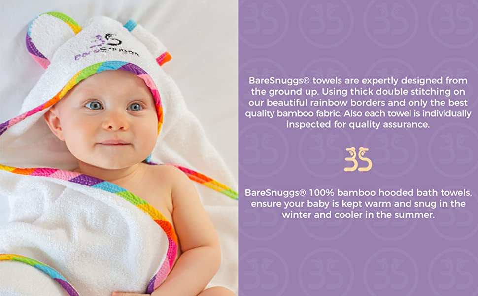 BareSnuggs organic bamboo towels are extra large , ultra soft and are cleverly designed rectangular