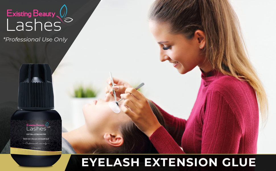 Existing Beauty, Existing Beauty Lashes, Extra Strong Eyelash Extension Glue, Eyelash Extension Glue