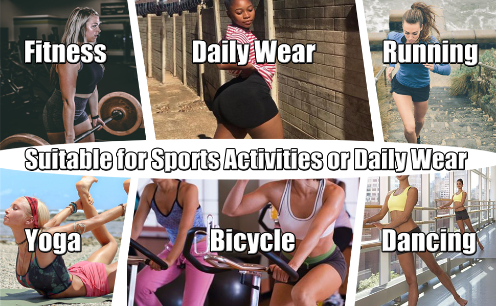 Workout Booty Shorts for Women - High Waist Spandex Yoga Soft Bike Shorts