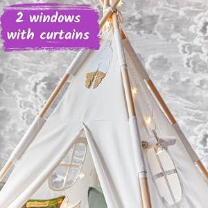 teepee tent windows