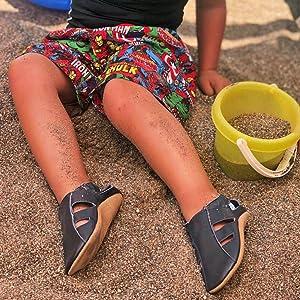 22-23 EU 18-24 Mois Chaussons antiderapant Bebe Dotty Fish Chaussures b/éb/é en Cuir Souple T-Bar Or Rose pour Filles