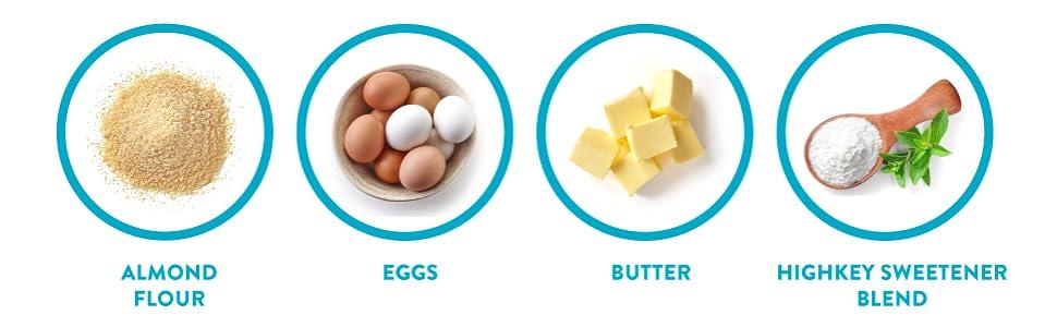 almond flour eggs butter sweetener