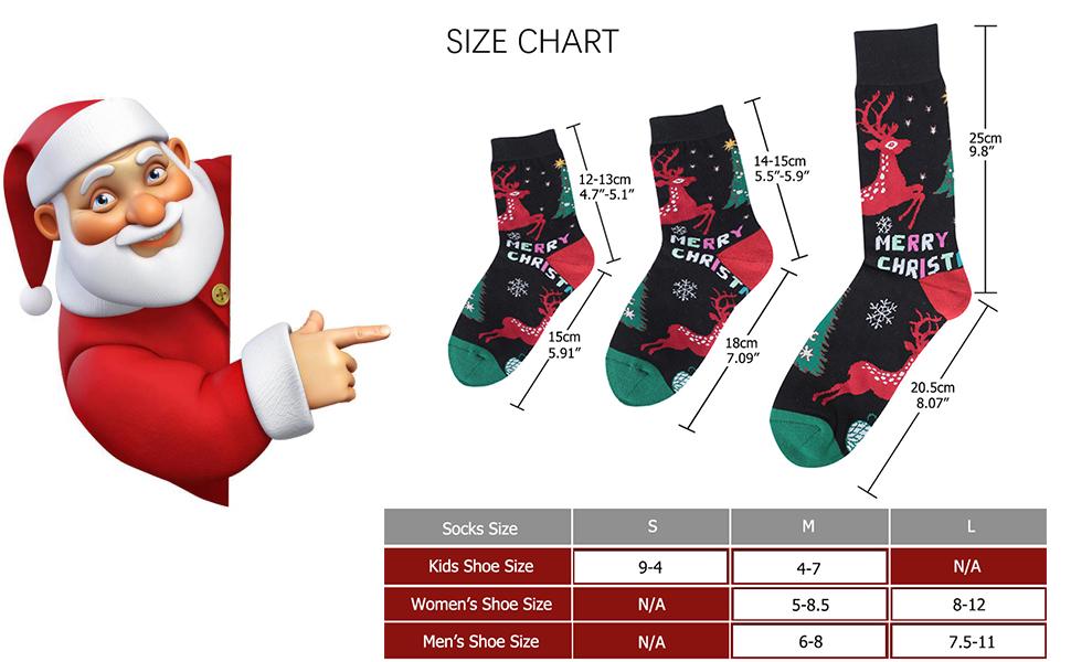 Seasons Greetings Ladies Christmas Socks Size 4-7