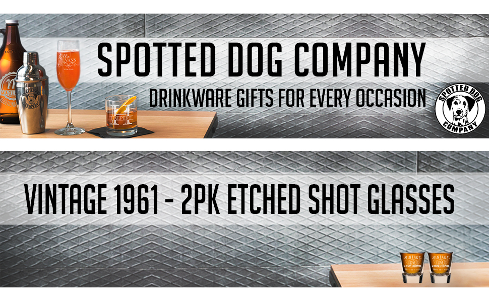 Spotted Dog Company vintage engraved glassware Birthday gifts for him gifts for her