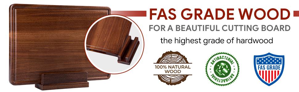 Madison Large Walnut Wood Cutting Board