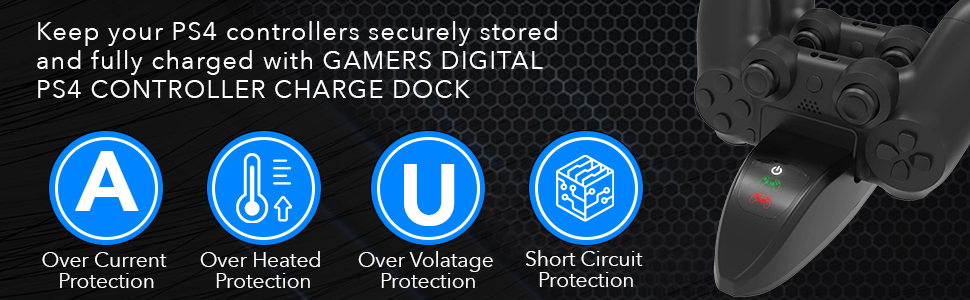 PS4 charge dock fully ready secure storage