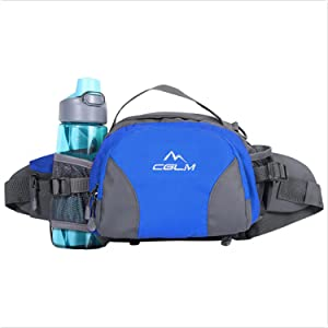 fanny pack for women men kids boy girl water bottle hiking traveling cycling large black waist bag