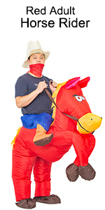 red adult horse rider costume