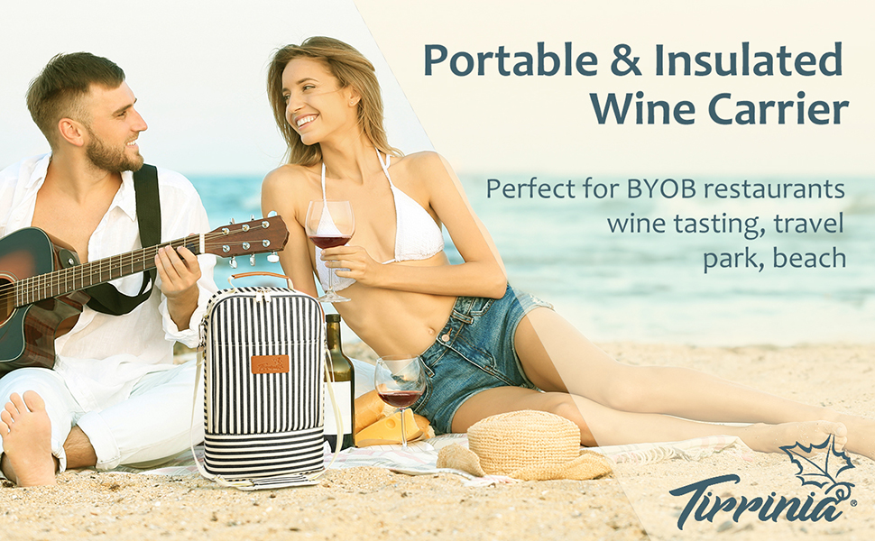 Portable & Insulated Wine Carrier