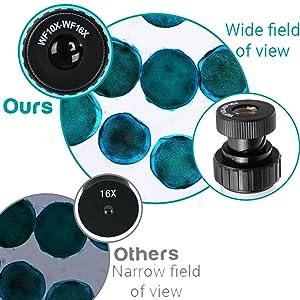 kids microscope with zoom eyepiece