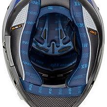 HAX Helmets CASCO CERRADO DOBLE CERTIFICACIÓN SERIE IMPULSE Droid Blue almohadilla hipoalergénicas