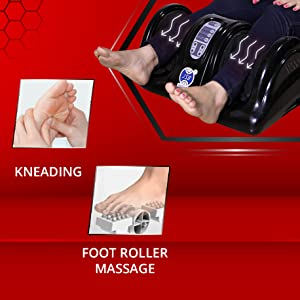 foot massager with kneading and foot roller
