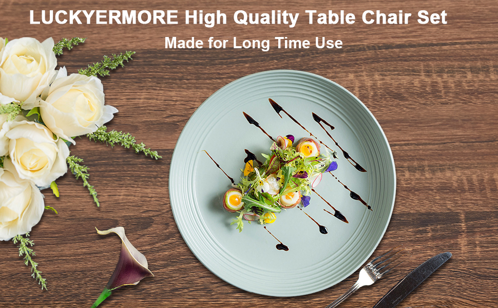LUCKYERMORE 6 Piece Compact Dining Table Set