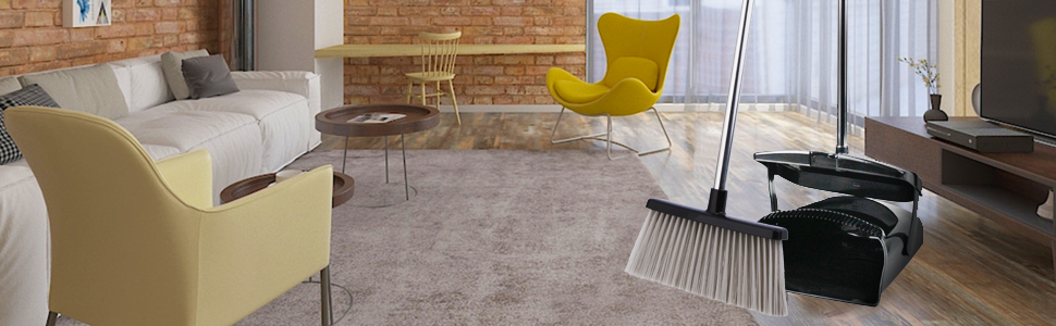 broom and dustpan set for Outdoor Or Indoor room and office